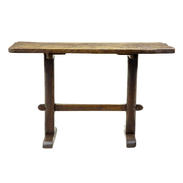 This Unusual Victorian Rustic Solid Oak Small Table Is No Longer