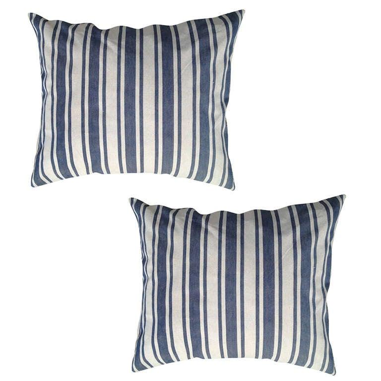 Swedish-fabric pillows, 19th century