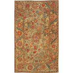 Antique Uzbekistan Suzani Embroidery