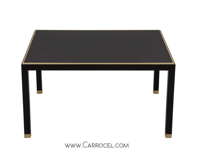 Black lacquer coffee table 2017