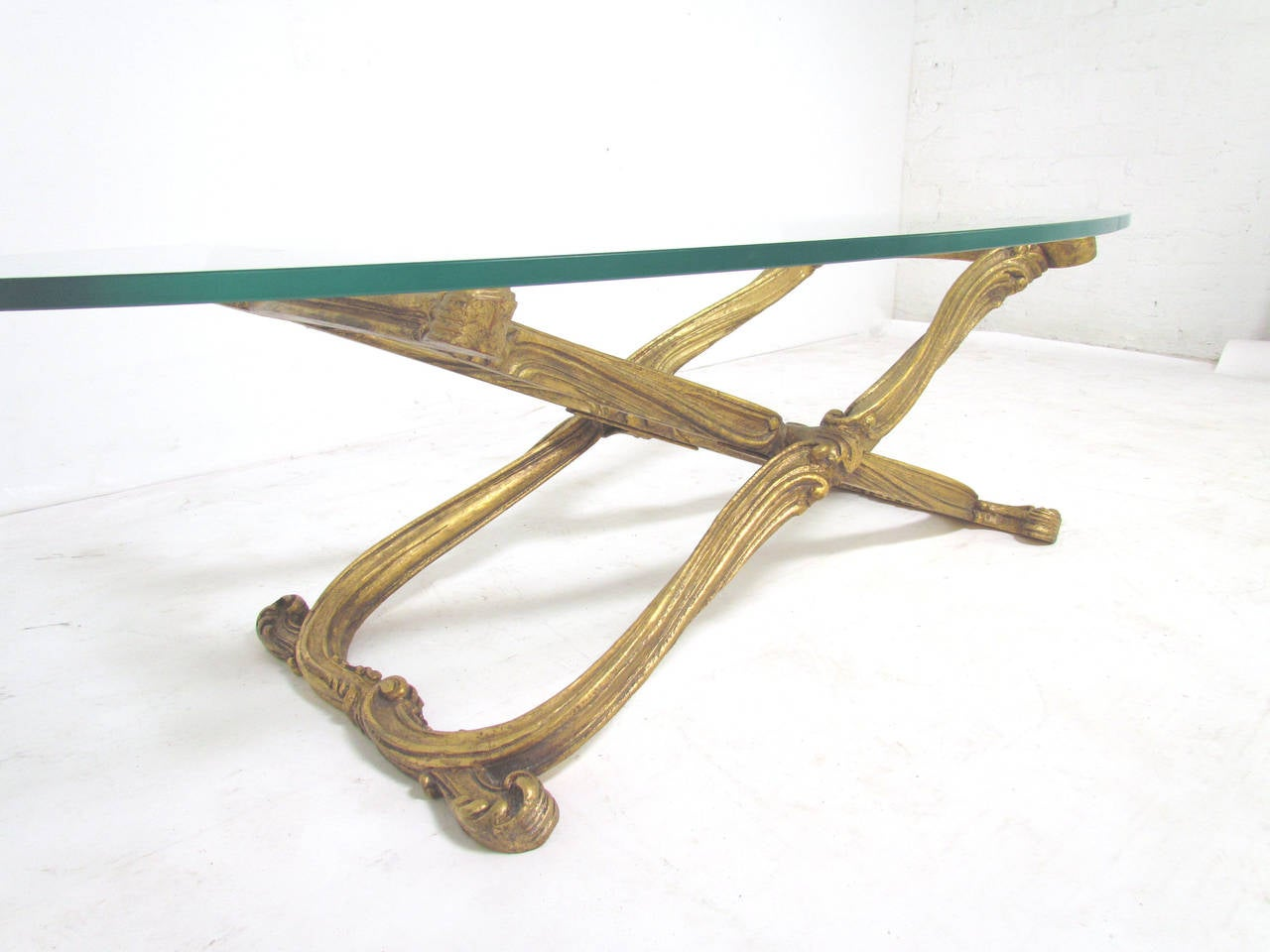 Hand Carved And Gilded X Form Coffee Table Circa S At Stdibs