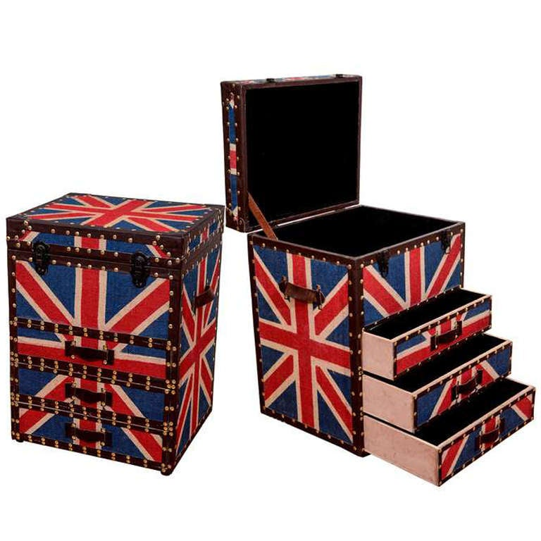 Union Jack trunk chests, 1970s