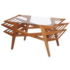 Maxime Old 1950s Oak Coffee Table