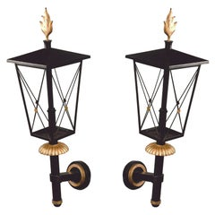 Important Pair of 1950s Wrought Iron Sconces by Gilbert Poillerat