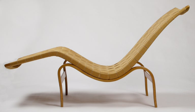 Early Bruno Mathsson Chaise Model 36 By Karl Mathsson At