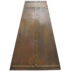 Patinated Brass Hanging Cabinet