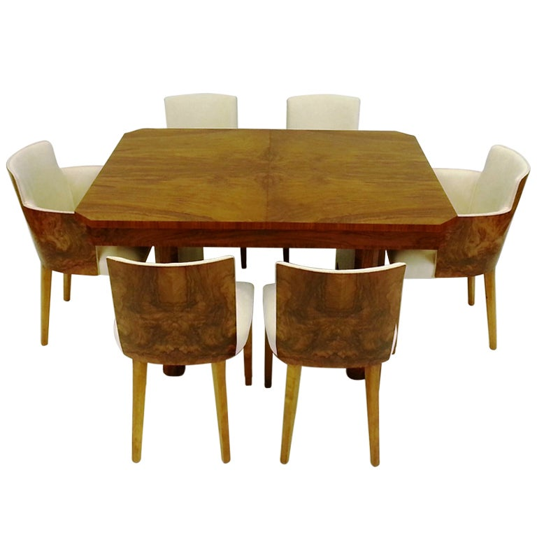 Xxx Art Deco Dining Table  Chairs Stdibs