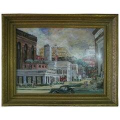 Impressionist View Norfolk Virginia, J Winston Lawler