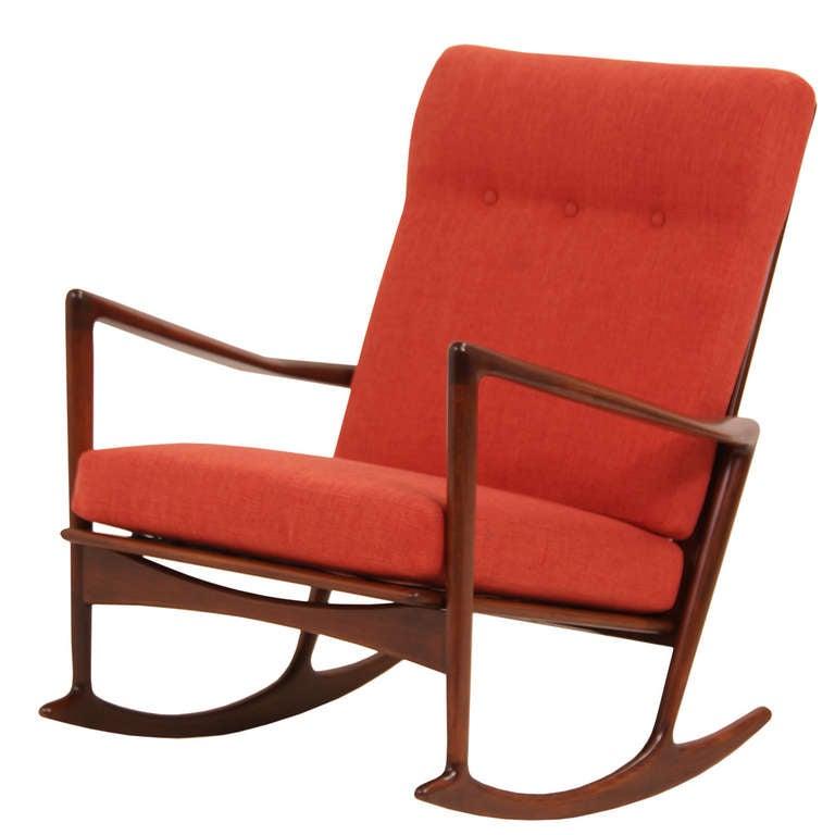 Ib Kofod-Larsen rocking chair, 1950s