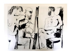 after Pablo Picasso - The Human Comedy - Heliogravure