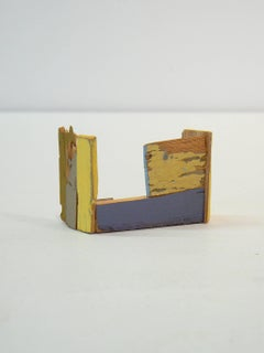 Liz Sweibel, Untitled (Scrapings #10), 2016, Wood, Paint, Found Objects