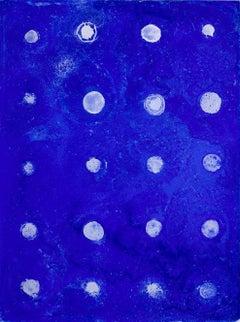 Ellen Hackl Fagan, Seeking the Sound of Cobalt Blue_20 Moons, 2014, Enamel, Ink