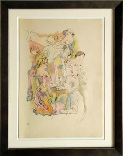 """""""Professor Freud gewidmet"""" Lithograph 1922 by George Grosz"""