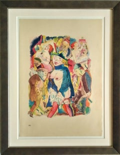 """Walzertraum"" ( Waltz Dream ) Lithograph 1921 by George Grosz"