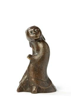 """Bronze Sculpture """"Japanese Dancer I"""" by Bernhard Hoetger"""