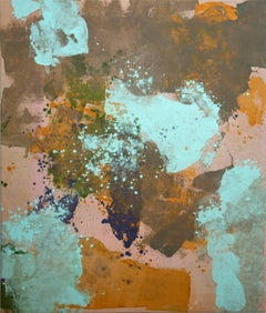 Abstraction in Turquoise, Ultramarine and Burnt Sienna