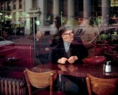 Old Men In A Coffee Shop, Manhattan 1983 photograph (Soho)