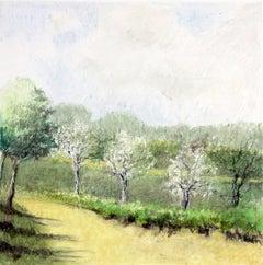 """Untitled Pastel #11"", James Wilson Rayen, pastel drawing, landscape, green"