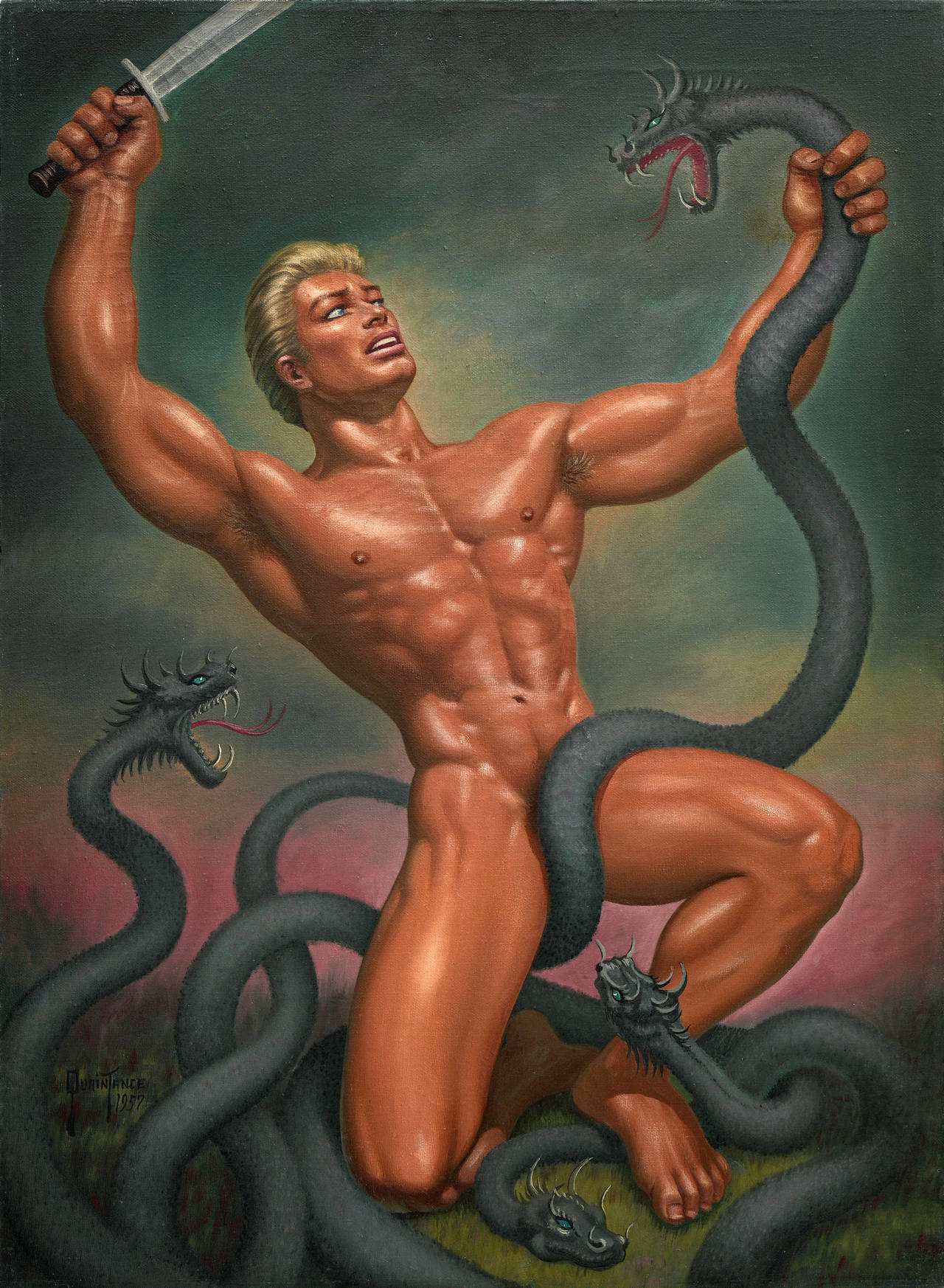 Barbarian gay art erotic image