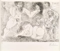 Pablo Picasso, Untitled from 23 novembre 1966 II, etching