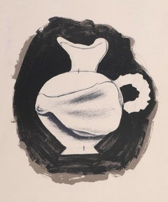 Untitled - Pitcher - Original  Lithograph by Georges Braque - 1959