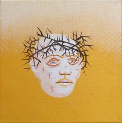 Small Christ 1 - Contemporary, Figurative Painting, Yellow, 21st Century, Divine