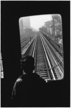 Third Avenue El., New York City, 1954 - Black and White Photography