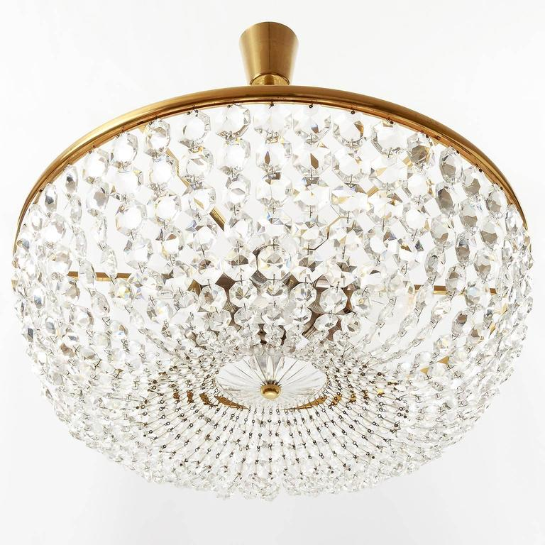 Viennese Coffee House Basket Crystal Chandelier By Lobmeyr S For Sale At Stdibs