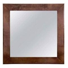 Aldo Tura Purple Goatskin Mirror