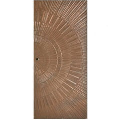 Poured Bronze Sunburst Door by Sherrill Broudy for Forms and Surfaces, 1960s