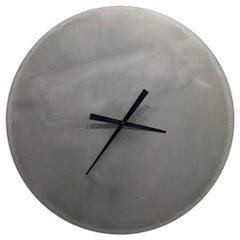 Large Cast-Concrete Wall Clock