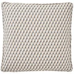Frank Lloyd Wright Schumacher Design 107 Grey Sand Two-Sided Linen Pillow