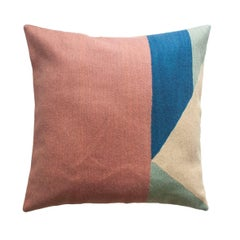 Modern Renzo Pastel Hand Embroidered Geometric Throw Pillow Cover