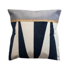 Geometric Jordan Black and White Modern Throw Pillow Cover