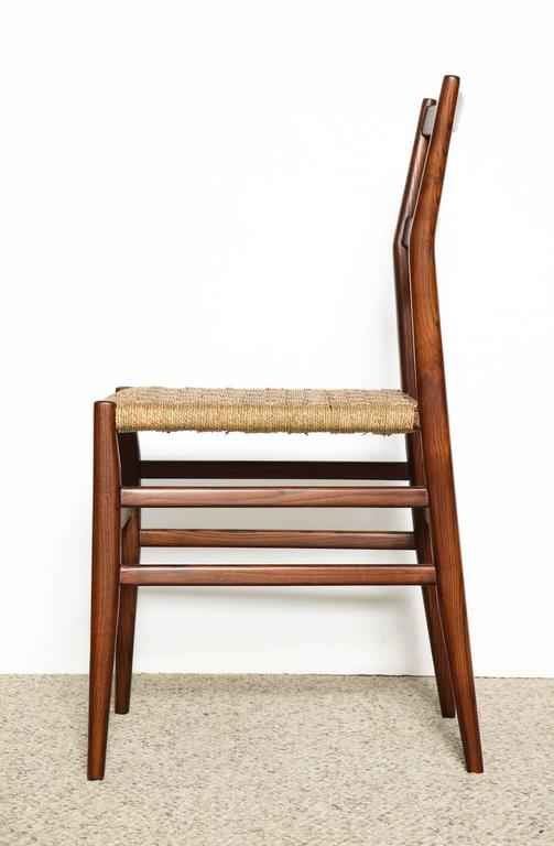 Mid-Century Modern Gio Ponti Dining Chairs Set of 10 For Sale