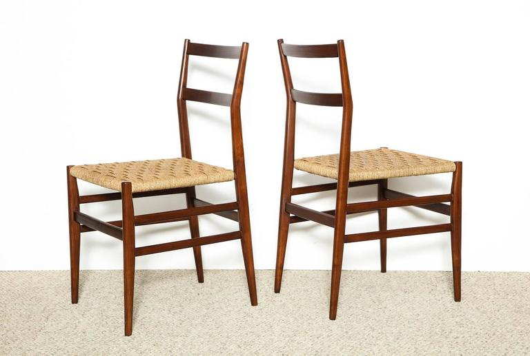 Italian Gio Ponti Dining Chairs Set of 10 For Sale
