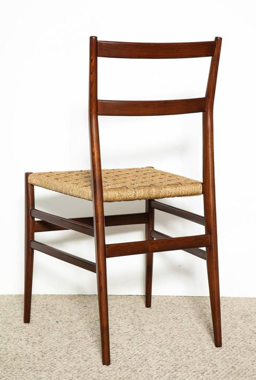 Mid-20th Century Gio Ponti Dining Chairs Set of 10 For Sale
