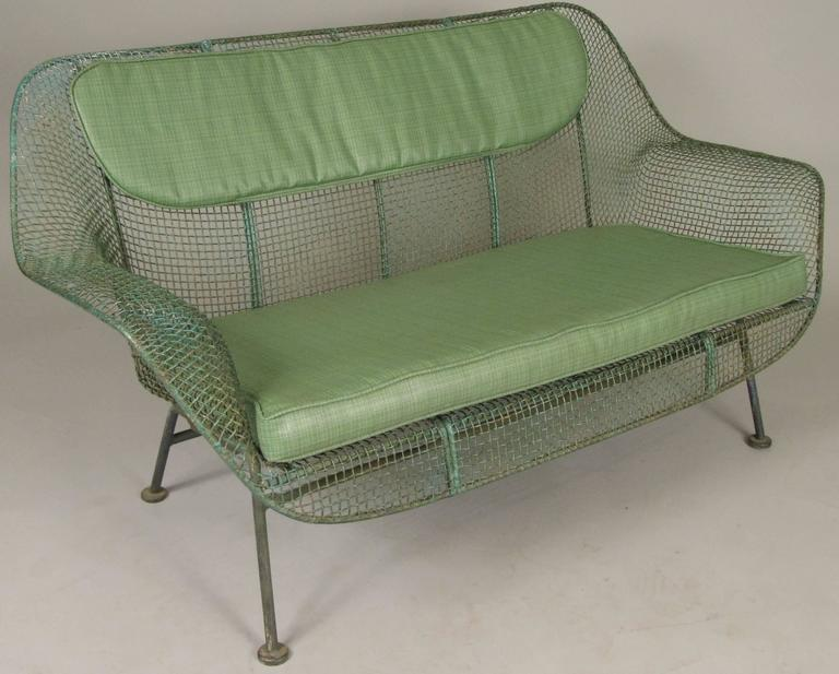Vintage S Sculptura Wrought Iron Settee By Russell