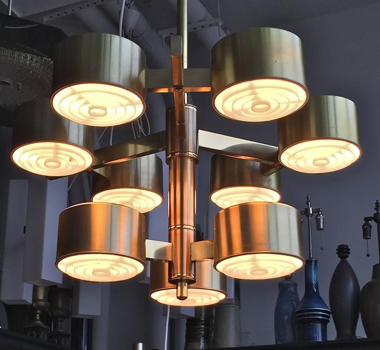 Drum light chandelier