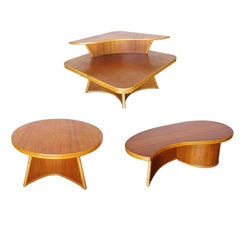 Restored Living Room Rattan Table Set Designed by Herbert and Shirley Ritts