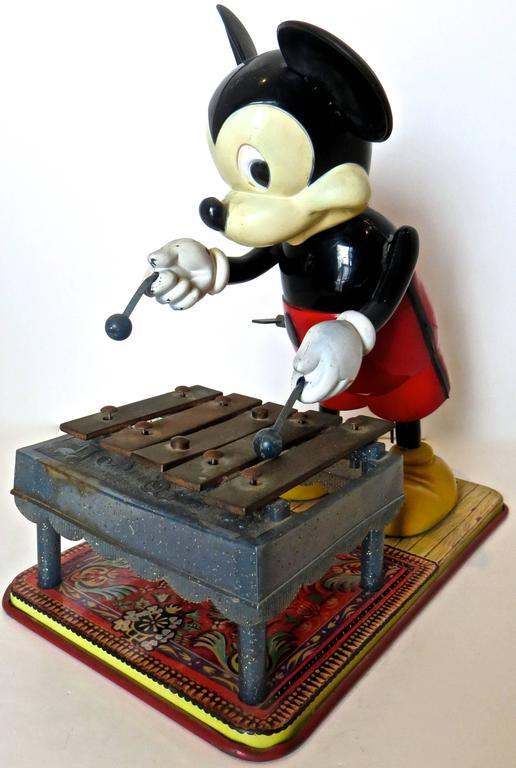ToyMickeyMousePlayingXylophoneAmericanCirca1950s