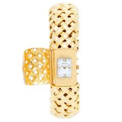 Tiffany & Co. Yellow Gold Quartz Cuff Wristwatch