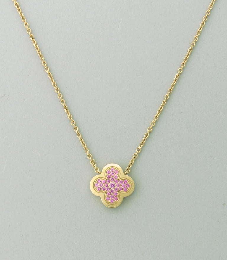 Van cleef and arpels alhambra vintage pendant