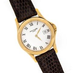 Patek Philippe Ladies Yellow Gold Calatrava Quartz Wristwatch Ref 4906J-001