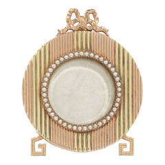 Faberge Yellow and Rose Gold Miniature Picture Frame