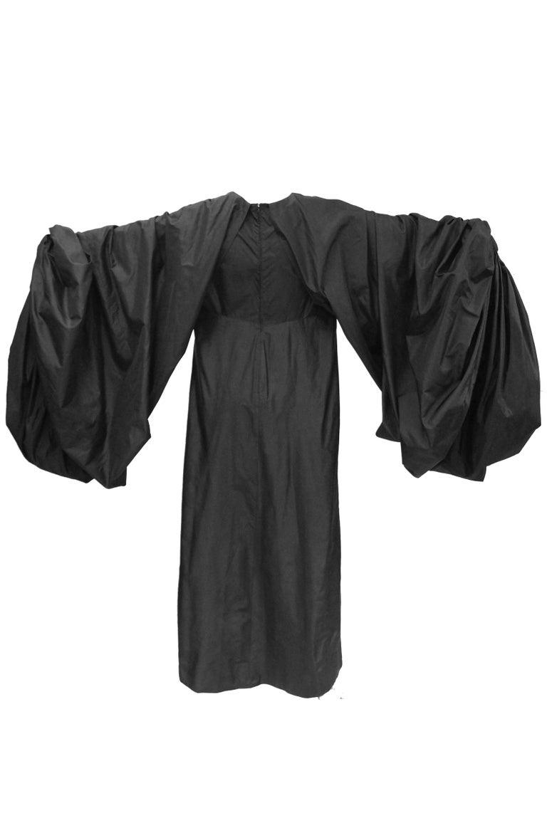 Women's Madame Grès Black Haute Couture Silk