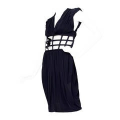 1990s Jean Paul Gaultier Black Corset Dress