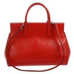 Louis Vuitton Red Epi Top Handle Satchel Tote Carryall Travel Shoulder Bag