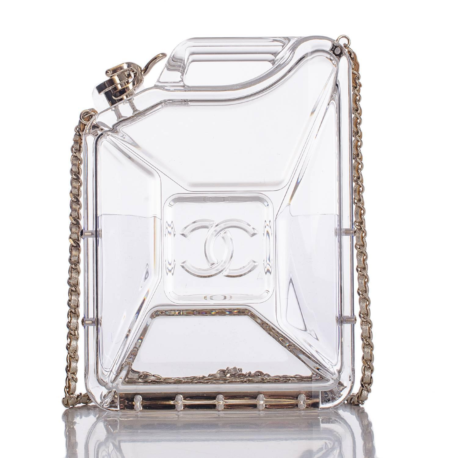 Chanel hologram cc minaudiere clutch