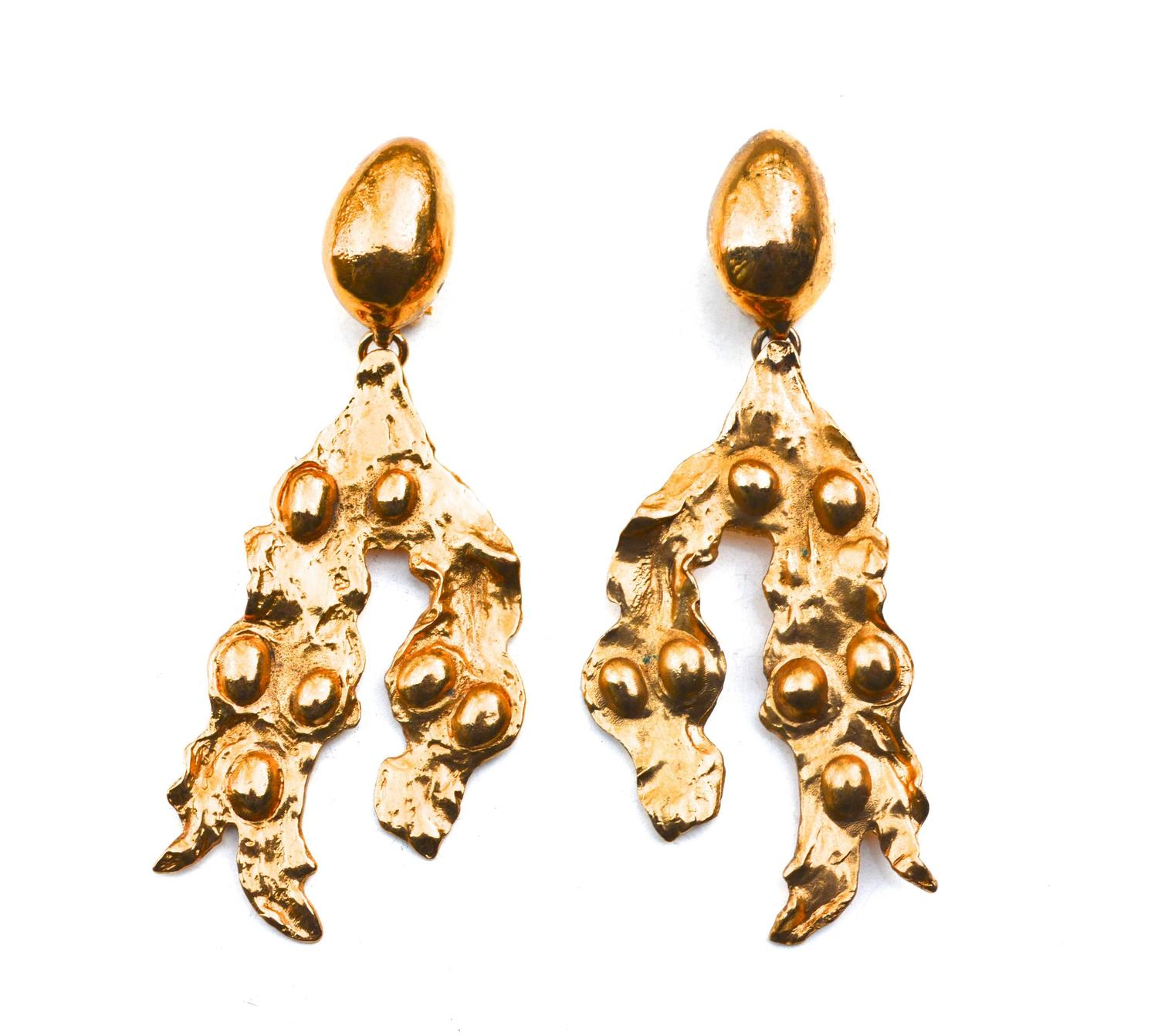 Oversized Yves Saint Laurent Abstract Earrings 2